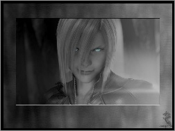 twarz, oczy, Ff 7 Advent Children, facet, osoba