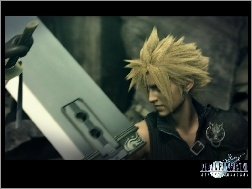 osoba, miecz, Ff 7 Advent Children